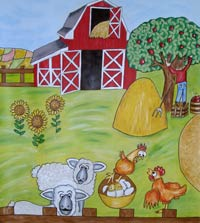 farm mural - Painting For Childrens