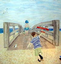 Nantucket boardwalk mural